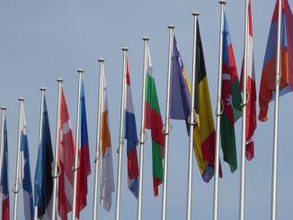 Europaflaggen reetdachfan