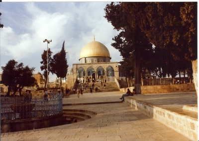 Helga Tempelberg mit Felsendom in Jerusalem