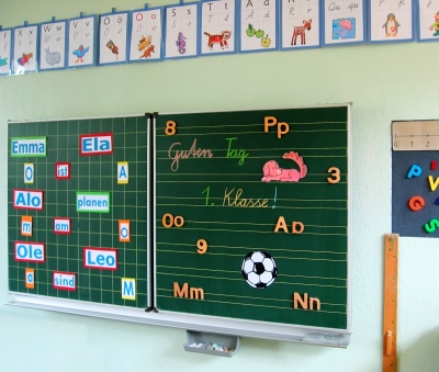 berwis Tafel in einer Schulklasse